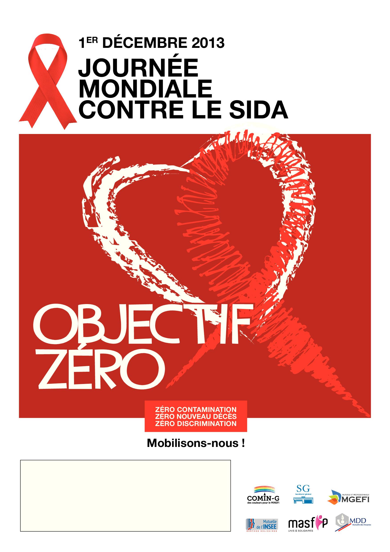 Affiche MGEFI lutte sida 2013