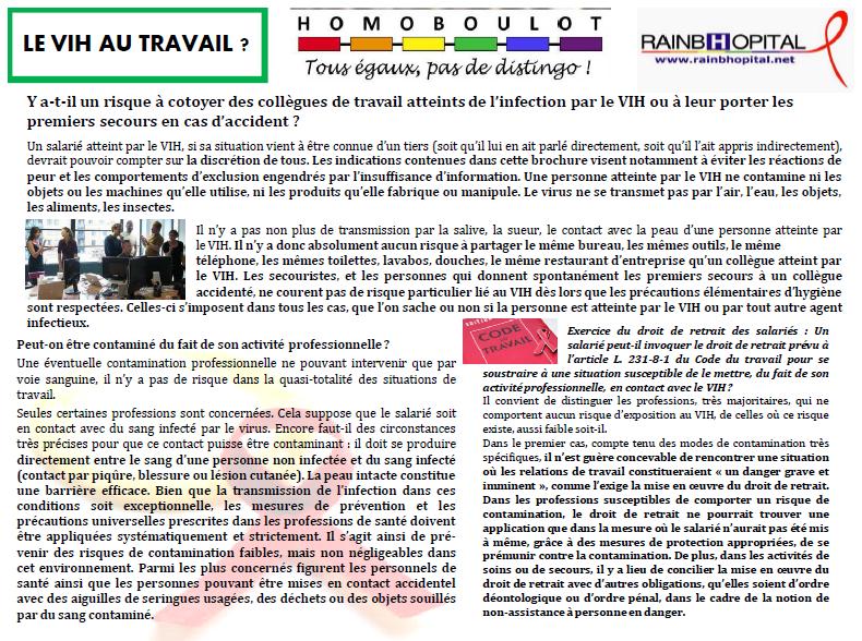 Article 1er decembre 5-1 LE VIH AU TRAVAIL