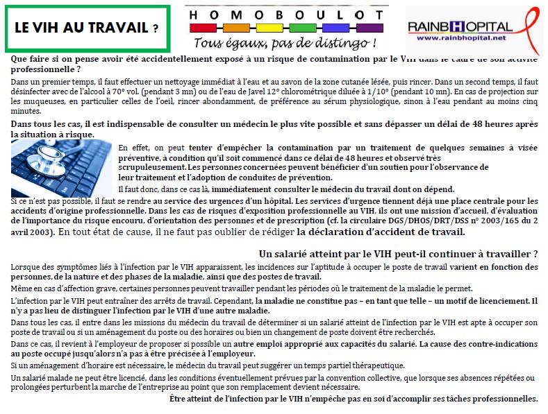 Article 1er decembre 5-2 LE VIH AU TRAVAIL