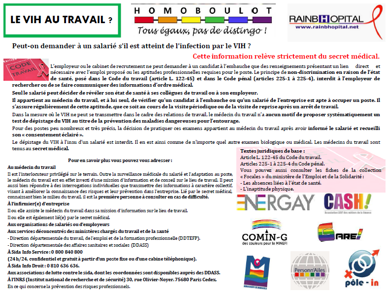 Article 1er decembre 5-3 LE VIH AU TRAVAIL