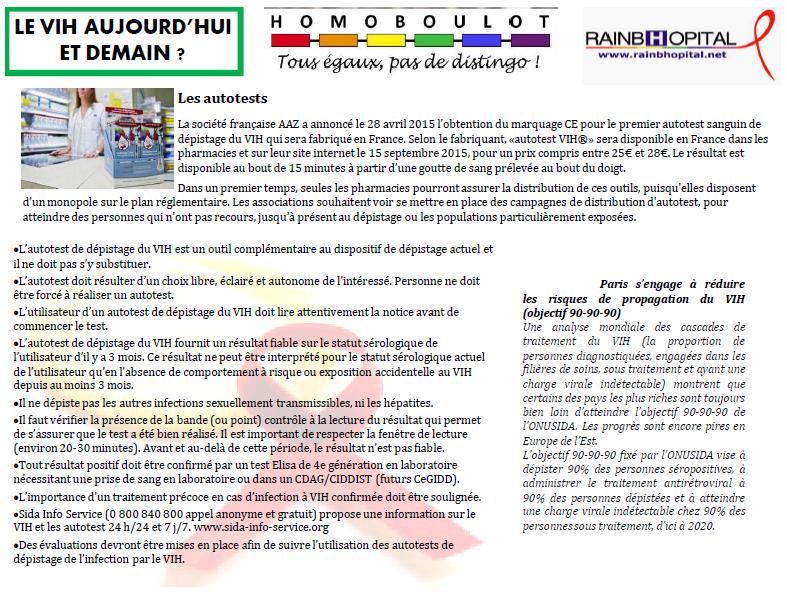 Article 1er decembre 6-1 LE VIH AUJOURD'HUI ET DEMAIN
