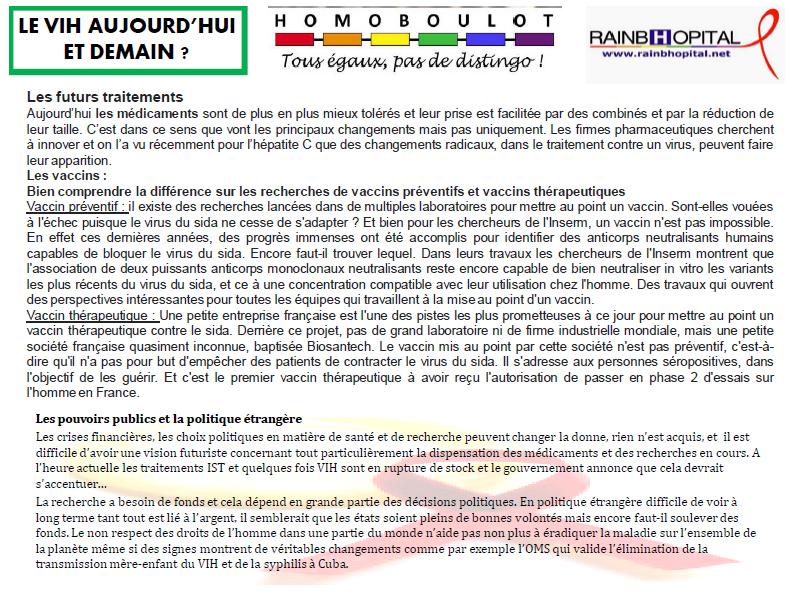 Article 1er decembre 6-2 LE VIH AUJOURD'HUI ET DEMAIN